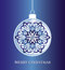Stock Image : Christmas ball_blue
