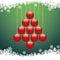 Stock Image : Christmas balls tree snowflake green background