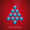 Stock Image : Christmas balls tree twine red background