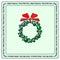 Stock Image : Christmas bauble wreath 3