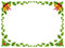 Stock Image : Christmas border / Holly leaves