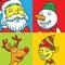 Stock Image : Christmas Characters