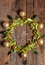 Stock Image : Christmas composition with linden blossom on old wooden table