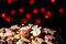 Stock Image : Christmas cookies and cakes in warm lights