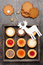 Stock Image : Christmas cookies in a wooden vintage box
