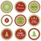 Stock Image : Christmas cupcake toppers