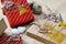 Stock Image : Christmas decoration and gift box