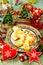 Stock Image : Christmas dessert and decor