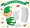 Stock Image : Christmas Elf Reading Letters