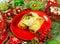 Stock Image : Christmas food Stuffed cabbage