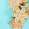 Stock Image : Christmas Gingerbread Cookies Border Square