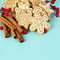 Stock Image : Christmas Gingerbread Cookies and Cinnamon