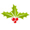 Stock Image : Christmas holly berry icon