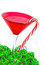 Stock Image : Christmas martini with candy cane