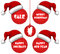 Christmas New Year and Holidays Sale Tag with Cap