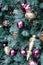 Stock Image : Christmas ornaments on tree