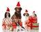 Stock Image : Christmas pets