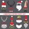Stock Image : Christmas Retro Party set