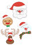 Stock Image : Christmas Santa Claus set