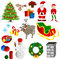 Stock Image : Christmas set