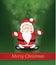 Stock Image : Christmas Shiny Background with Santa Claus