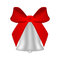 Stock Image : Christmas silver bell with red bow