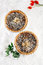 Stock Image : Christmas  tart with mincemeat and candied peel