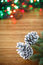 Stock Image : Christmas tree with cones