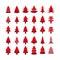 Stock Image : Christmas tree icon set, vector eps10