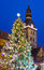 Stock Image : Christmas tree near Riga Cathedral