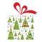 Stock Image : Christmas trees gift