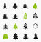 Stock Image : Christmas trees