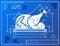 Stock Image : Christmas whole turkey symbol like blueprint drawi