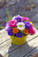 Stock Image : Chrysanthemum bouquet in a basket