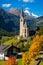 Stock Image : Church in Cortina, autumn, Italy