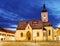 Stock Image : Church at night in Zagreb, Croatia