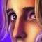 Stock Image : Ciérrese para arriba de la cara de una mujer triste - arte digital