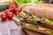 Stock Image : Ciabatta Sandwiches with ham
