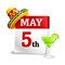 Stock Image : Cinco De Mayo Calendar Icon