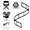 Stock Image : Cinema's icons