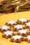 Stock Image : Cinnamon star cookies (Zimtsterne)