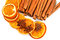 Stock Image : Cinnamon sticks  and dried orange cuts