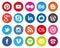 Stock Image : Circular Social Media icons