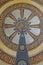 Stock Image : Circular wheel decorated wall art