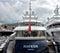 Stock Image : City of Nice - Luxury yacht in the port of Port de Nice