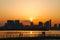 Stock Image : City Skyline sunset