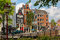 Stock Image : City view of Amsterdam street canal and typical houses, Holland,