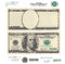 Stock Image : Clear 100 dollar banknote template and elements