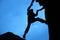 Stock Image : Climbing Silhouette