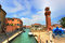 Stock Image : Clock tower in Murano, Italy